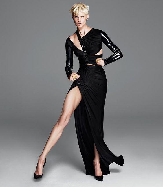Más Versace Fall 2013 anuncios publicitarios con Kate Moss y Saskia de Brauw