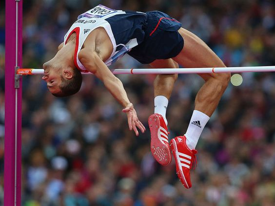 Robert Grabarz clears 2.25 then 2.29 in the High Jump to earn a bronze medal for Team GB.