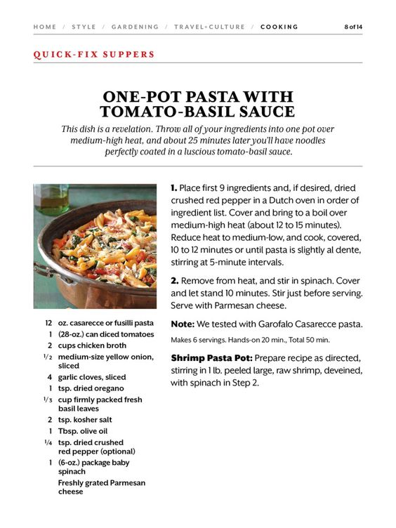 Fusilli With Tomato-Basil Sauce Recipe — Dishmaps
