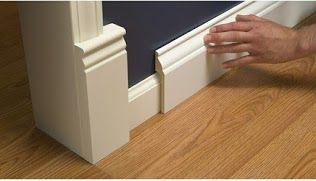 Installer Une Moulure De Plinthe Large Sur Une Plinthe Etroite Existante Plinthes Decoration Interieur Design Diy Maison
