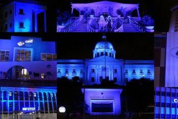 Instituciones Iluminan De Azul Sus Edificaciones Por El Día Mundial De Autismo