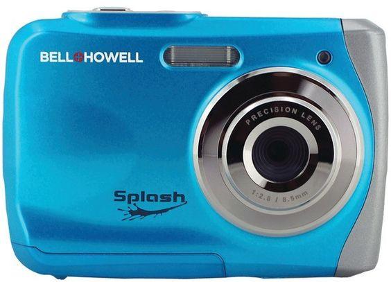 bell+howell - 12.0 megapixel wp7 splash underwater digital camera (blue)
