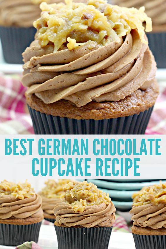 The Best German Chocolate Cupcakes
