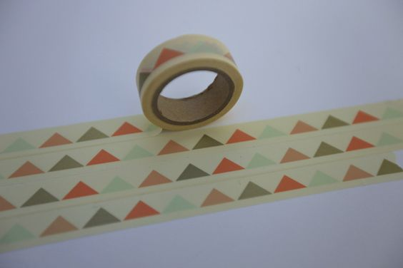 Weihnachtsmaterial - Tape GOLD GELB coral Dreiecke - ein Designerstück von bespokedesign bei DaWanda