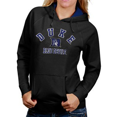 Duke Blue Devils Womens Arch Mascot Logo Pullover Hoodie - Charcoal