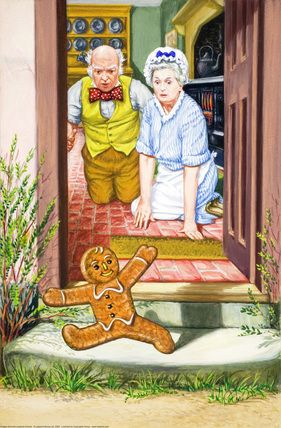 Running gingerbread boy - The Gingerbread Boy - Robert Lumley - Ladybird Book: