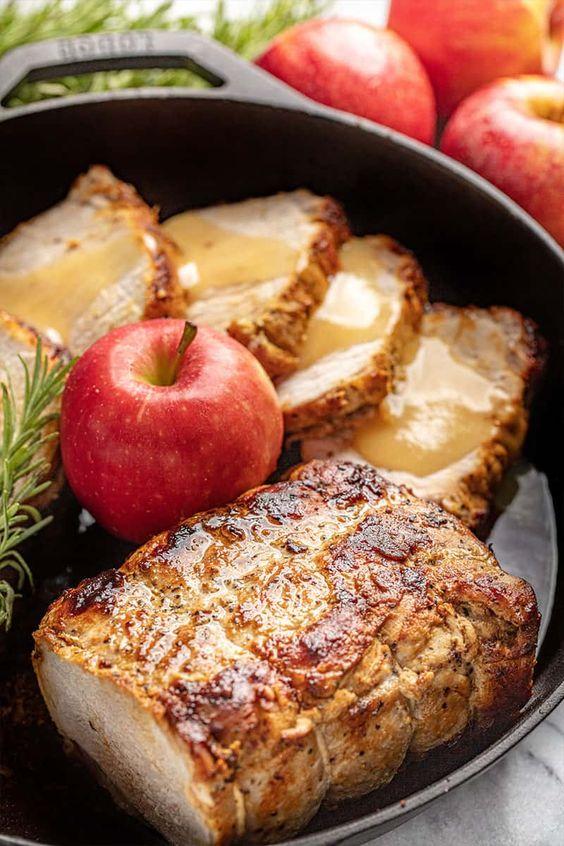 Apple Glazed Roasted Pork Loin