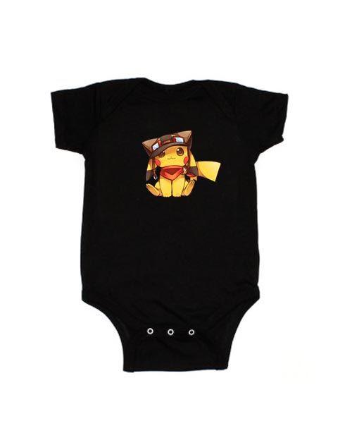 Tepig POKEMON Baby body Vests bodysuit Funny Child One Piece boy girl/'s Clothing girl Kid/'s Shower Clothes POKEMON GO