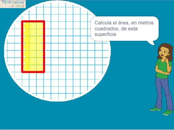 Área cuadrado y rectángulo