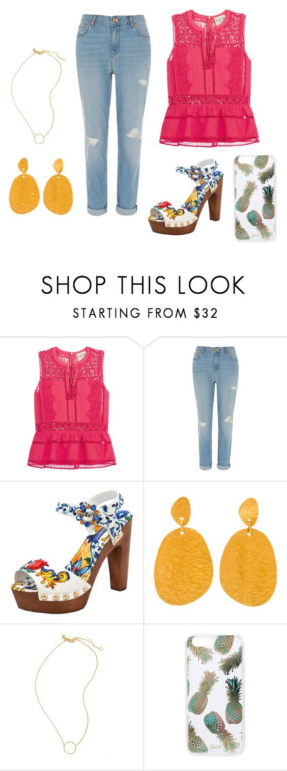 """""""Untitled #19"""" by torijw ❤ liked on Polyvore featuring Sea, New York, River Island, Dolce&Gabbana, Madewell and Sonix"""