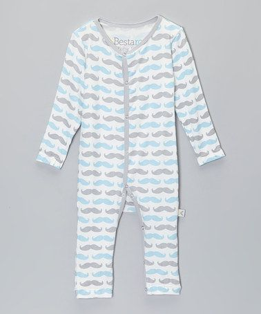 Blue Mustache Playsuit - Infant #zulily #zulilyfinds