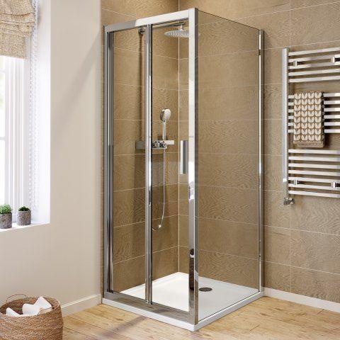 800x800mm 6mm Elements Easyclean Bi Fold Door Shower Enclosure