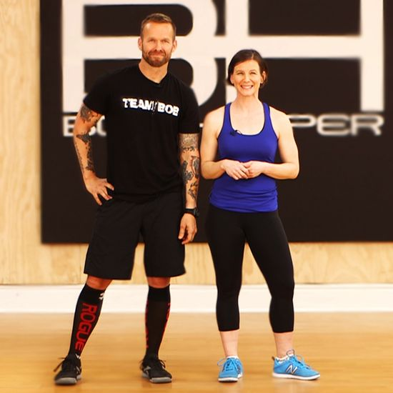 Bob Harper has been instrumental in transforming hundreds of overweight contestants into their slimmer selves on NBC's hit show The Biggest Loser. Bob showed us his essential moves for making weight loss a reality. From a lateral burpee to a squat