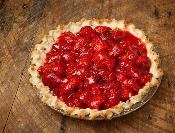 Springtime Fresh Strawberry Pie from Wild Life in the Woods