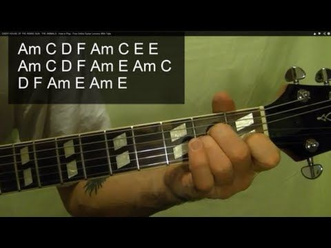 ▶ EASY! HOUSE OF THE RISING SUN - THE ANIMALS - How to Play - Free Online Guitar Lessons With Tabs - YouTube