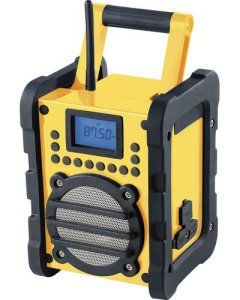 Auvisio PX-1429-908 Radio de chantier avec enceinte Technologie Bluetooth 2.1 et port USB 2.0 Jaune