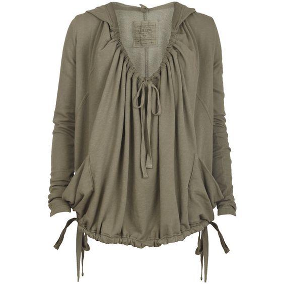Locksley Hoodie ($110) ❤ liked on Polyvore featuring tops, hoodies, shirts, medieval, blouses, blusas, women, brown hoodie, slim shirt and hoodie shirt