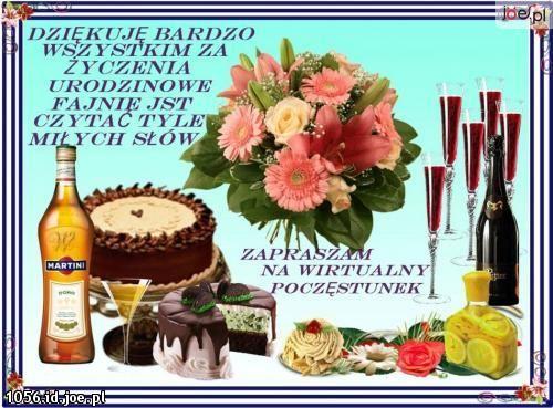 Podziekowanie Za Zyczenia 2 Table Decorations Happy Birthday Decor