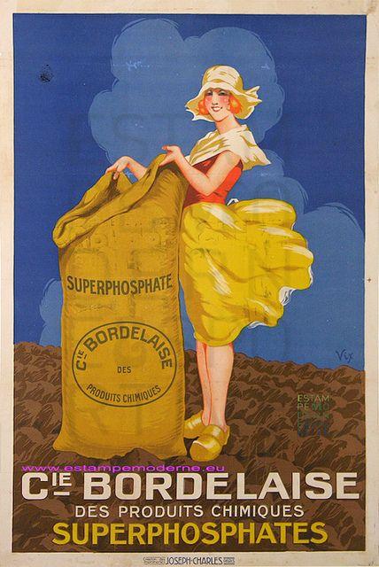Vix Compagnie Bordelaise Superphosphate 69X98,5 Imp Joseph by estampemoderne.fr, via Flickr