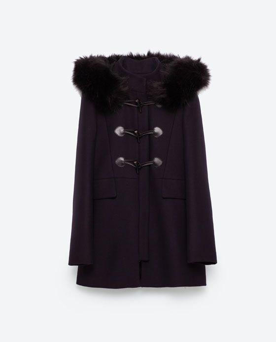 Image 8 of DUFFLE COAT WITH FAUX FUR COLLAR from Zara | Style ...
