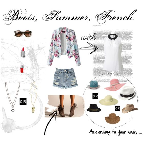 """""""Boots, Summer, French."""" by clement-riviere on Polyvore"""