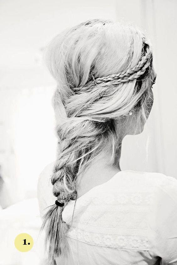 Trendy Wedding, blog  idées et inspirations mariage ♥ French Wedding Blog: {coiffure de la mariée} Le cheveu hippie-hipster