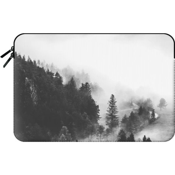 Macbook Sleeve - Valley of Secrets Macbook Case ($60) ❤ liked on Polyvore featuring accessories, tech accessories and macbook sleeve