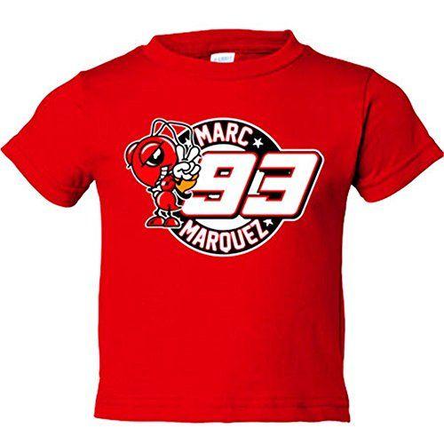 Camiseta Marc Marquez 93, Rojo, 5-6 años #camiseta #friki #moda #regalo