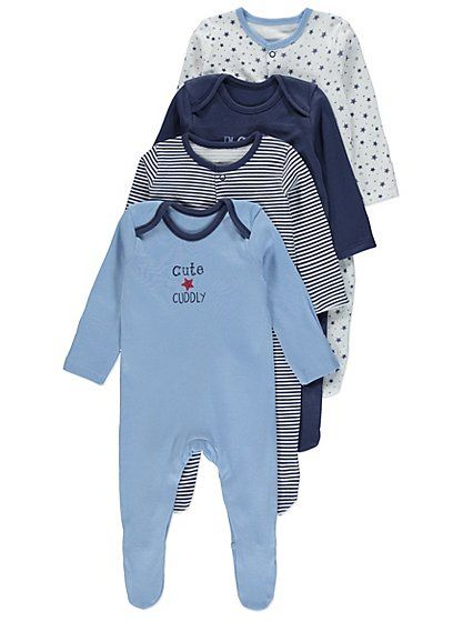3 +1 Free Pack Assorted Sleepsuits, read reviews and buy online at George at ASDA. Shop from our latest range in Baby. When bedtime comes, help your baby to ...