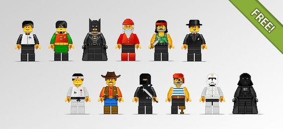 Lego Illustrazioni carattere