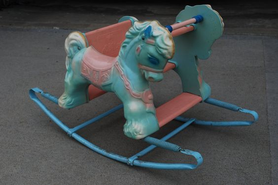 1950s Wonder Toy Company Shoo Fly Rocking Horse by ShopSlimPickins, $75.00