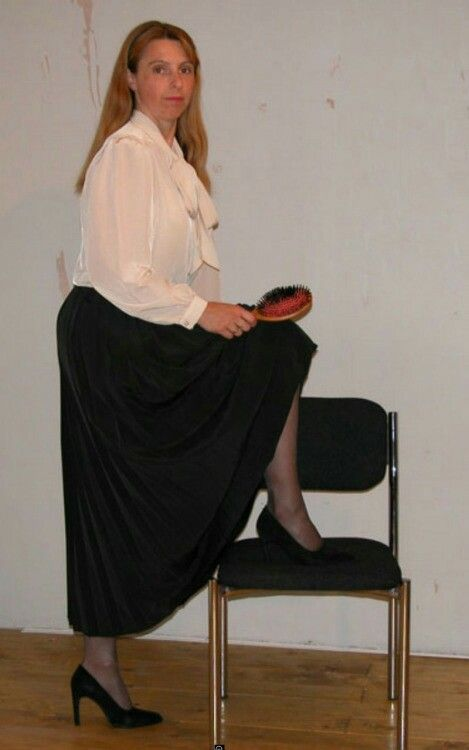 Lady mature from strict discipline