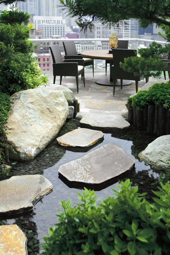 Gardens style and rooftops on pinterest for Japanese garden design principles