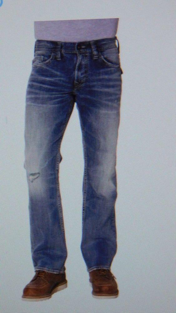 Silver Jeans Zac Medium Wash Relaxed Straight Leg Jean - 32 x 34