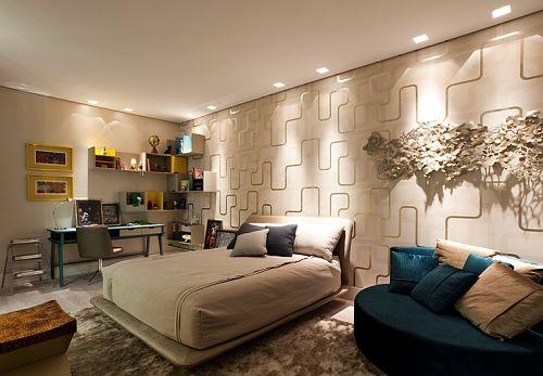 Resultado de imagem para papel de parede para quarto casal moderno