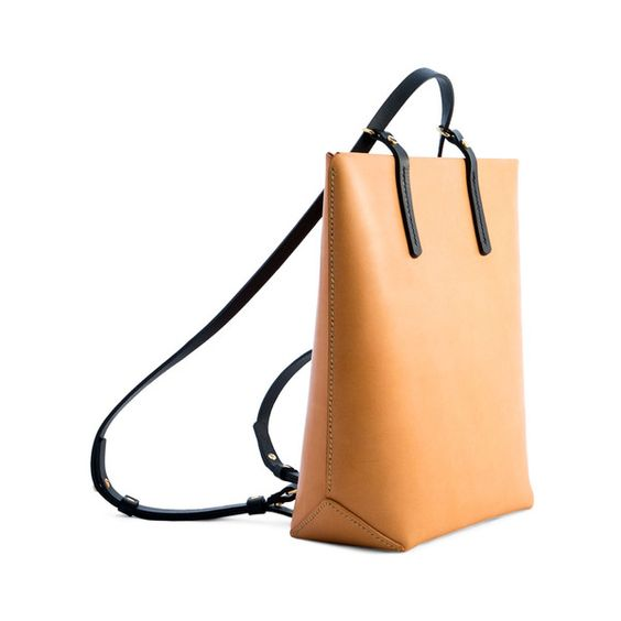 Iala Diez Eolie Max B Nude Leather Backpack (10,360 MXN) convertible rucksack