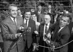 Mock und Horn durchtrennen 1989 den Eisernen Vorhang (© picture-alliance/ dpa)