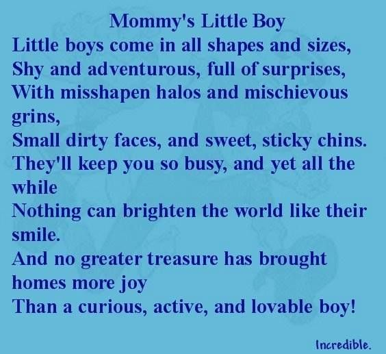 Love Quotes Boys: Mummy's Little Boy