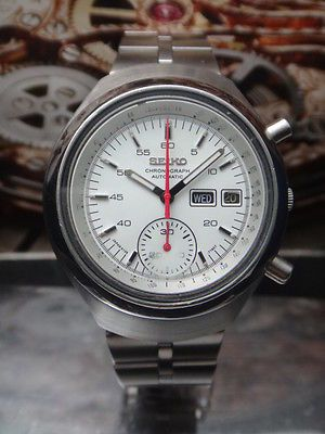 SEIKO VINTAGE HELMET CHRONOGRAPH AUTOMATIC MEN WATCH -720 in Jewelry & Watches   eBay