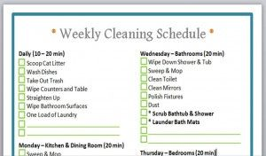 FREE printable cleaning schedule!