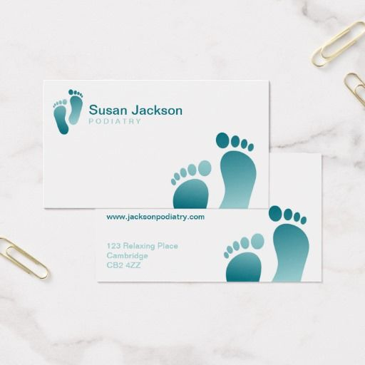Podiatrist Business Card Zazzle Com In 2021 Business Cards Business Quality Cards