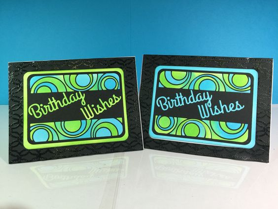 Masculine Birthday cards using the concentric circles die from the Catherine Pooler Designs collection.