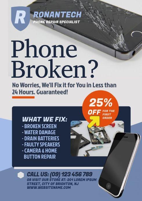 Smartphone Repair Flyer Smartphone Repair Phone Repair Repair