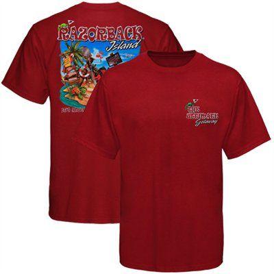 Arkansas Razorbacks Island T-Shirt - Cardinal