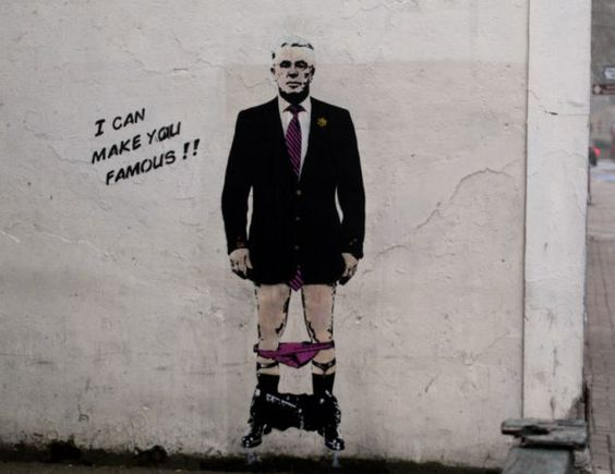 Max Clifford - By Banksy