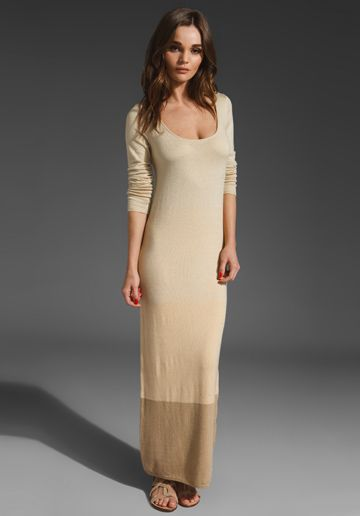 PAPER CROWN Clove Maxi Dress in Cream/Ginger