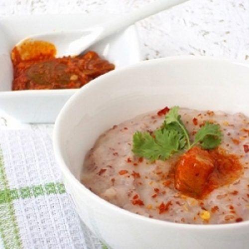 Resep Bubur Beras Merah Topping Daging Jamur Yang Sedap Dan Enak Selerasa Com Resep Resep Makanan Jamur Resep