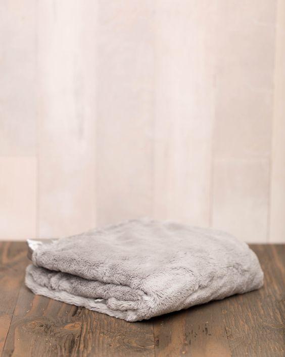 Plush Receiving Blanket - Grey