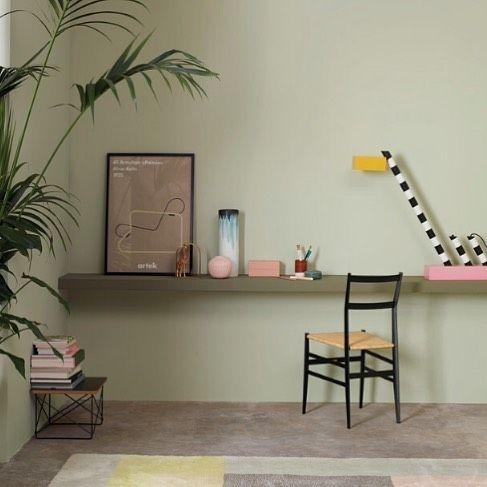 Pigga upp rummet med lite grön färg! Vägg: LADY Pure Color 8478 ... : väggfärg lady : Inredning