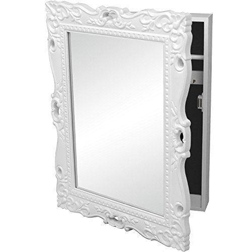 Schmuckschrank mit Spiegel Spiegelschrank Schlüsselschrank ...